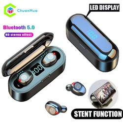 Tai nghe Bluetooth 5.0 cảm ứng thông minh màn hình LED hiển thị thông số