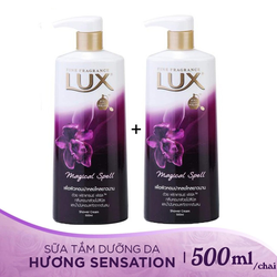 Combo 2 chai Sữa Tắm Lux Magical Spell Tím Thailand 500ml/chai