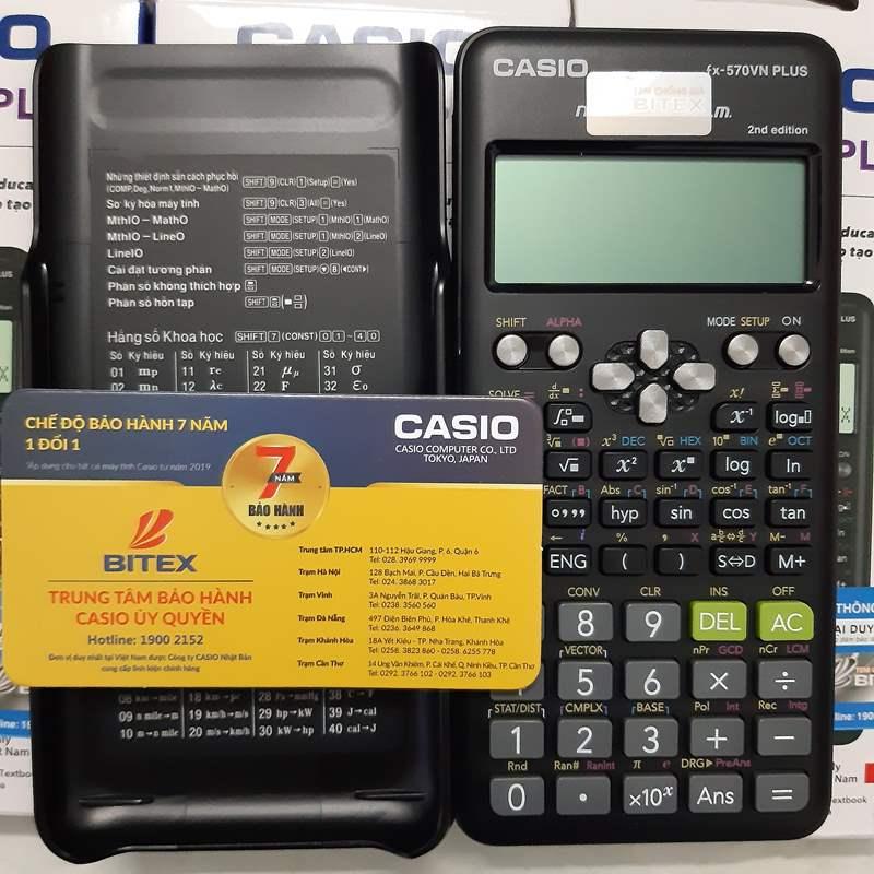 Máy tính Casio 570Vn Plus  Chính hãng  Bảo hành 7 năm