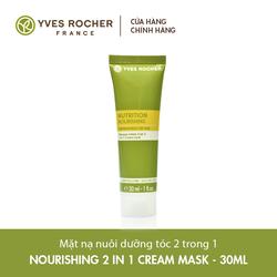 Mặt Nạ Nuôi Dưỡng Tóc Dành Cho Tóc Khô 2 Trong 1 Mini Yves Rocher Nourishing 2 In 1 Cream Mask 30ml