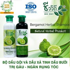 Bộ dầu gội và dầu xả tinh dầu bưởi trị gàu và ngăn rụng tóc Bio Way Thái Lan 360ml - GOI-XA-BƯỞI