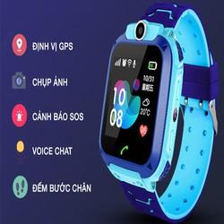 Đồng hồ định vị thông minh trẻ em Q6  chống nước nghe gọi sos camera với cảm ứng - đồng hồ q6