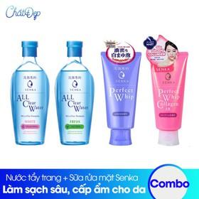 Bộ sản phẩm nước tẩy trang và sữa rửa mặt tạo bọt Senka - CBMP00038.01