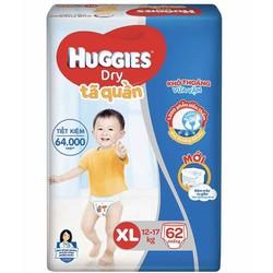 Tã Quần Dán Huggies M74 L68 XL62 XXL56