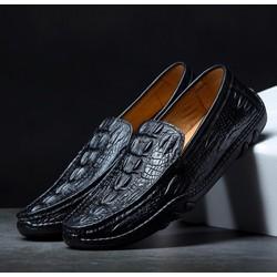 Giày lười da bò vân cá sấu , đế cao su siêu êm ,2 màu, mẫu giày da thời trang nhất .ĐƯỢC KIỂM TRA HÀNG VÀ TEST LỬA.