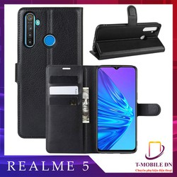 Bao da Realme 5, Ốp lưng da có nắp gập và chống xem video tiện lợi cho Realme 5