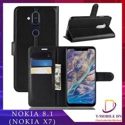 Bao da Nokia 8.1, Ốp lưng da có nắp gập và chống xem video tiện lợi cho Nokia 8.1 X7