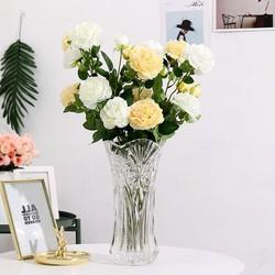 Hoa Giả Hoa Hồng Cao Cấp 1 Cành 3 Bông Lớn - Hoa hồng giả cao cấp - Hoa Giả - H5vrg001