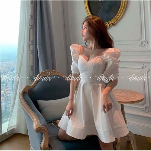 Đầm tay phồng công chúa_