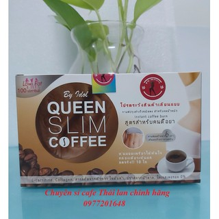 Cà Phê Giảm Cân Queen Slim Coffee - Hộp 10 gói x 15g - cafe Queen thumbnail
