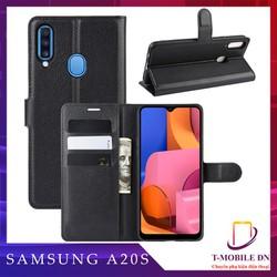 Bao da Samsung A20S - Ốp lưng da Samsung A20S - Ốp da A20S - Ốp lưng nắp gập Samsung A20S