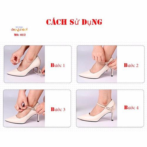 Quai giày giúp giữ giày ôm chân không bị tuột gót chống rộng phụ kiện trang trí mang được nhiều kiểu