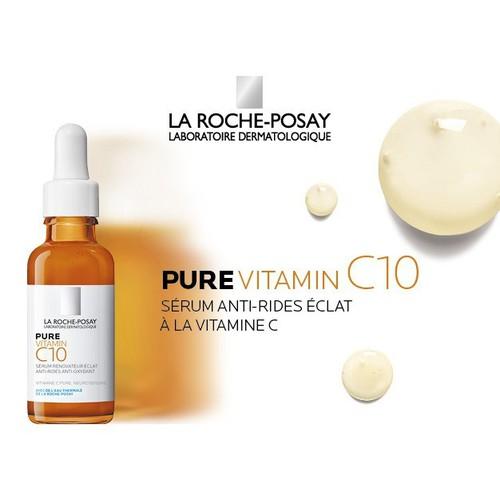 Serum dưỡng trắng, giảm nám La Roche Posay Pure Vitamin C10 - SR Lrp C10