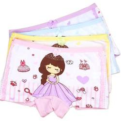 Quần chip đùi cotton cho bé gái 2-12 tuổi hình công chúa lung linh BBShine – C007