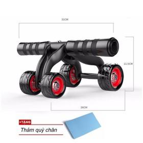 Con lăn tập cơ bụng 4 bánh cao cấp KAMA Ab Roller,dụng cụ tập thể hình,tập GYM,dụng cụ tập thể lực, dụng cụ tập cơ bụng sáu múi,con lan tap co bung - con lăn tập 4 bánh