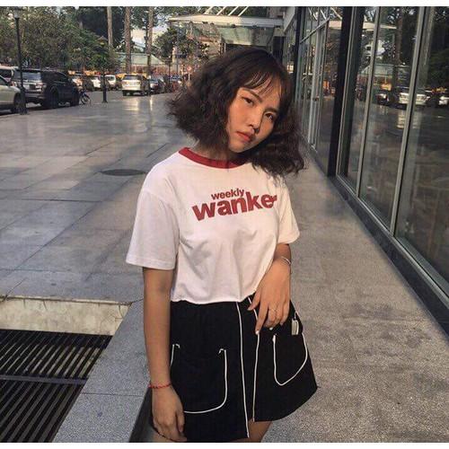Áo thun nữ croptop wanker dễ thương eva ao 10049