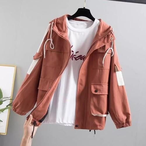 Áo khoác nữ túi hộp siêu đẹp siêu hot siêu cá tính vải kaki 2 lớp siêu chất
