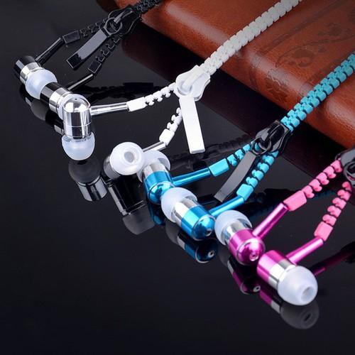 Bao rẻ tai nghe dây kéo chống rối zipper