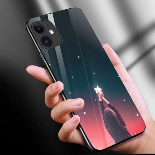 Ốp kính cường lực cho điện thoại iphone 11 - anime love nơi ta chờ nhau ms ntcn008