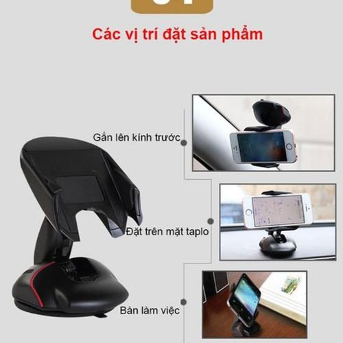 Kẹp điện thoại hình chuột gấp gọn gắn taplo kính xe hơi ô tô bàn làm việc tot