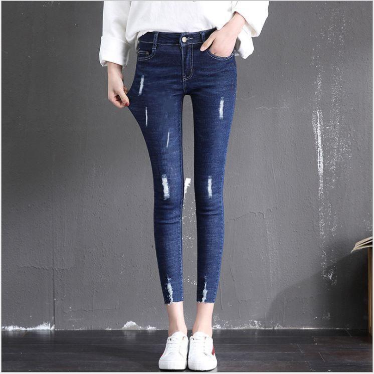 Quần jean nữ 9 tấc co giản nhiều màu size 25-35