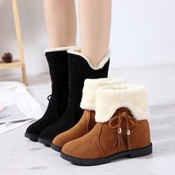 Giày Bốt Nữ Lót Lông