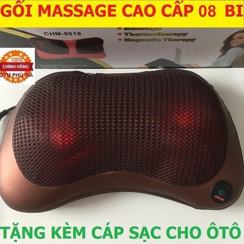 Hàng có sẵn gối massage 8 bi gối mát xa hồng ngoại gối matxa giảm mệt mỏi