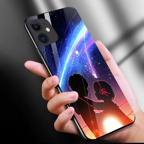 Ốp kính cường lực cho điện thoại iphone 11 - anime love nơi ta chờ nhau ms ntcn017