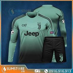 Bộ quần áo thể thao bóng đá Juventus Dài tay - Đồ đá banh Độc Nhất 2019