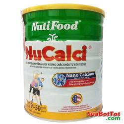 {nhập CB_T121 hoàn 16k} Sữa bột NuCalci NutiFood 19 - 50t tuổi hộp 800g