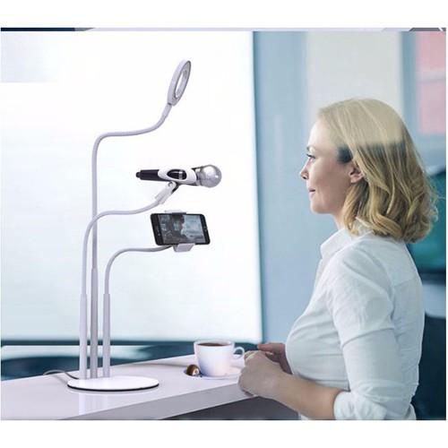 Bộ giá đỡ livestream có đèn led siêu đẹp 3 in 1 giá sập kh0