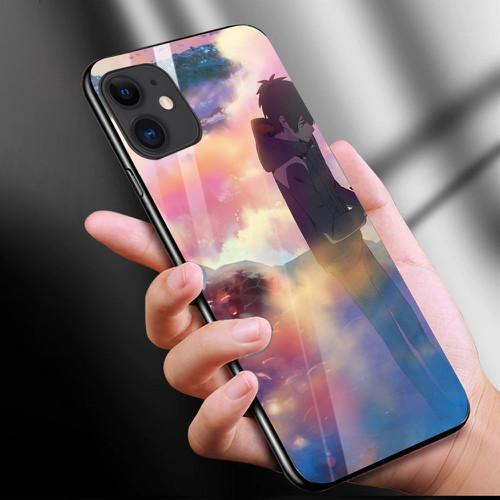 Ốp điện thoại kính cường lực cho máy iphone 11 - anime love nơi ta chờ nhau ms ntcn020