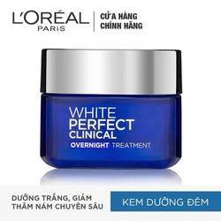Kem Dưỡng Da Trắng Mịn Và Giảm Thâm Nám Ban Đêm L'Oreal Paris White Perfect Clinical 50ml