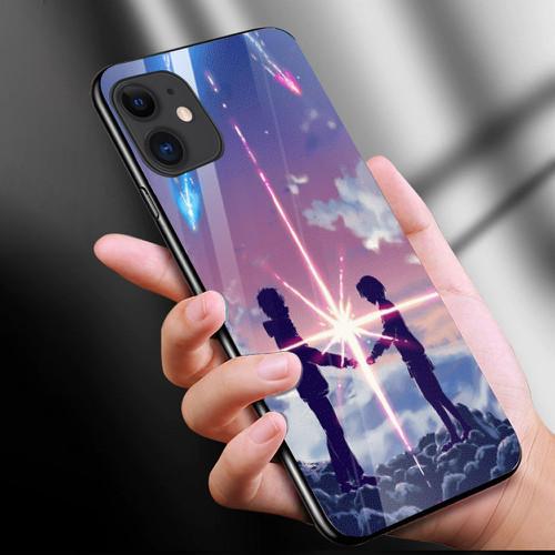Ốp kính cường lực cho điện thoại iphone 11 - anime love nơi ta chờ nhau ms ntcn007