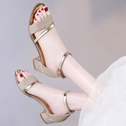 Giày sandal đế vuông siêu cấp
