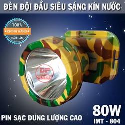 ĐÈN PIN ĐỘI ĐẦU LED SIÊU SÁNG 80W KÍN NƯỚC - IMT804