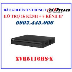 Đầu ghi hình 5 trong 1 Dahua 16 kênh XVR5116HS-X, hỗ trợ camera HDCVI-TVI-AHD-Analog-IP,Hỗ trợ ghi hình camera độ phân giải 5M-N 2 kênh, 4M-N-1080P