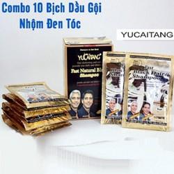 ComBo 10 Dầu Gội Nhuộm Tóc Đen - Cam Kết Chính Hãng