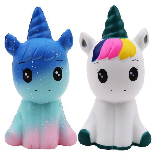 Cute cartoon single corn horse slow rising toys chic squishy vent toys kid rẻ cực rẻ
