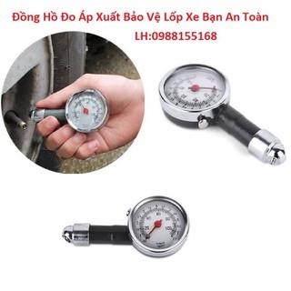 Đồng hồ đo áp suất lốp xe máy ô tô loại 1 đựng hộp nhựa cứng - L1-XH thumbnail