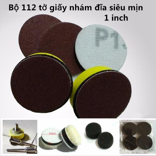 Bộ 112 tờ giấy nhám đĩa siêu mịn