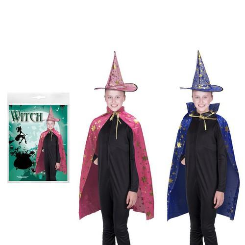 Bộ áo choàng phù thủy kèm nón 2 oại màu halloween uncle bills uh00623 giá rẻ sp17