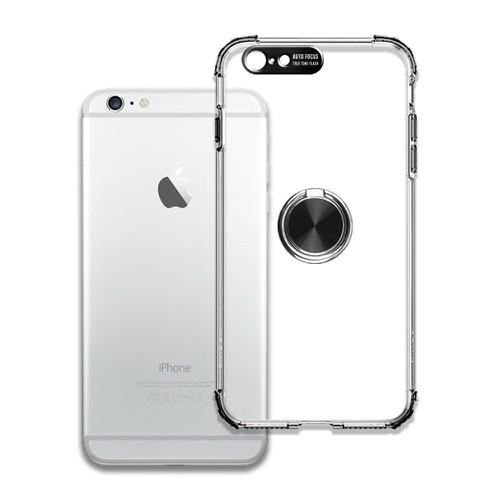 Ốp điện thoại chống sốc và bảo vệ camera toàn diện có iring cho iphone 6 plus_6s plus - đen - hàng chính hãng