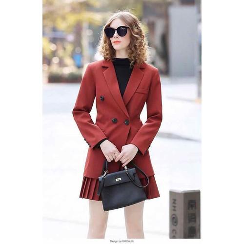 Sét áo vest và chân váy hàng hãng sale