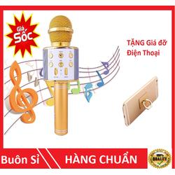 Mic karaoke - Tặng giá đỡ điện thoại