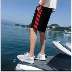 Quần shorts thun phối 3 sọc phù hợp cả nam và nữ