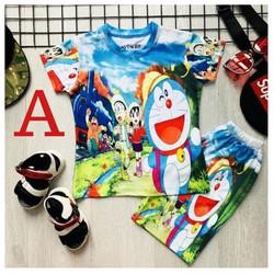 [ MẶC LÀ GHIỀN] - Đồ bộ bé trai hình DOREMON - Đồ bộ đẹp từ 9-42kg - Vải thun lạnh - Giặt không vỡ hình - Red Ant Kids