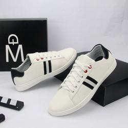 Giày Sneaker Nam Trắng Sọc Đen Cực Đẹp Giá Mềm Bm282 Shop Black Moon