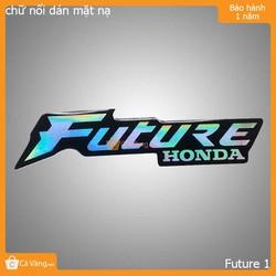 Logo dẽo dán mặt nạ trang trí cho xe Future 1 loại tốt giá rẻ