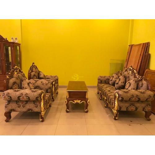 Bộ sofa cổ điển gỗ gõ đỏ dát vàng- sang trọng bọc vải xịn - 17805407 , 22340496 , 15_22340496 , 79000000 , Bo-sofa-co-dien-go-go-do-dat-vang-sang-trong-boc-vai-xin-15_22340496 , sendo.vn , Bộ sofa cổ điển gỗ gõ đỏ dát vàng- sang trọng bọc vải xịn